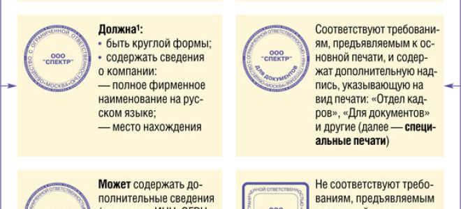 Печать для договоров на акте выполненных работ