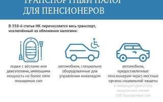 Транспортный налог для военных пенсионеров