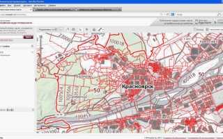 Выбрать свободный участок на кадастровой карте